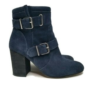 Vince Camuto Simlee Blue Leather Ankle Boot
